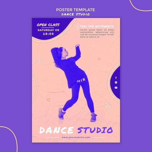 Szablon Ulotki Studio Tańca Darmowe Psd