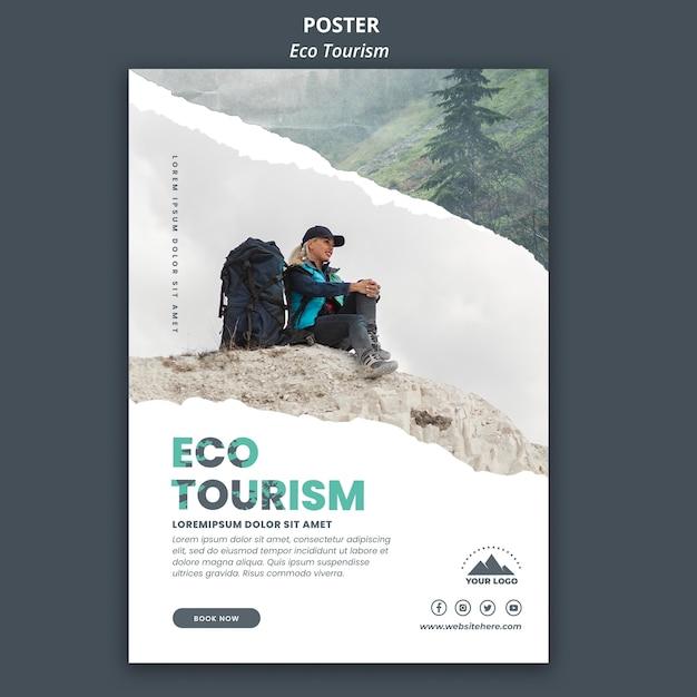 Szablon Ulotki Turystyki Ekologicznej Darmowe Psd