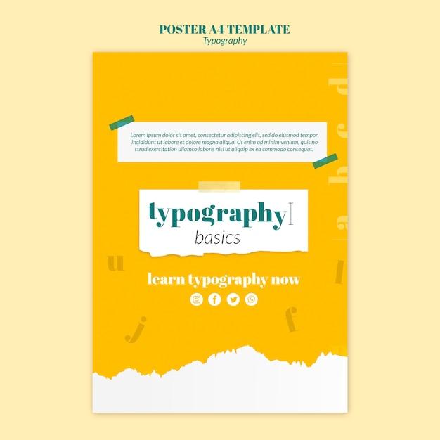 Szablon Ulotki Usługi Typografii Darmowe Psd
