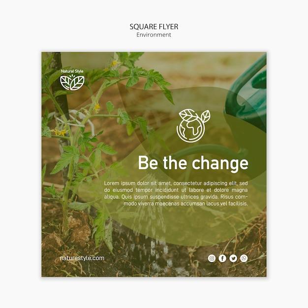 Szablon Ulotki Z Projektem środowiska Darmowe Psd