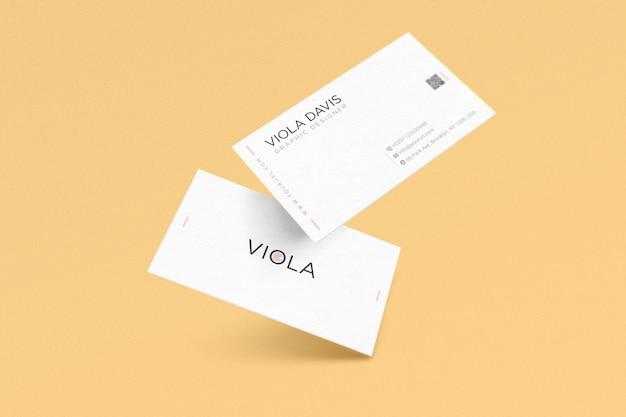 Szablon wizytówki białego Premium Psd