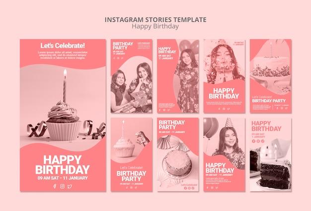 Szablon Wszystkiego Najlepszego Z Okazji Urodzin Instagram Darmowe Psd