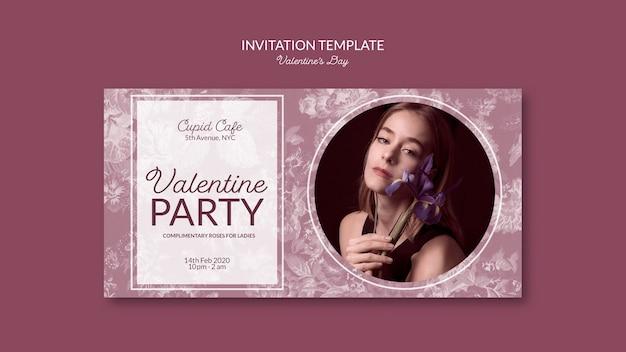 Szablon Zaproszenia Walentynki Darmowe Psd
