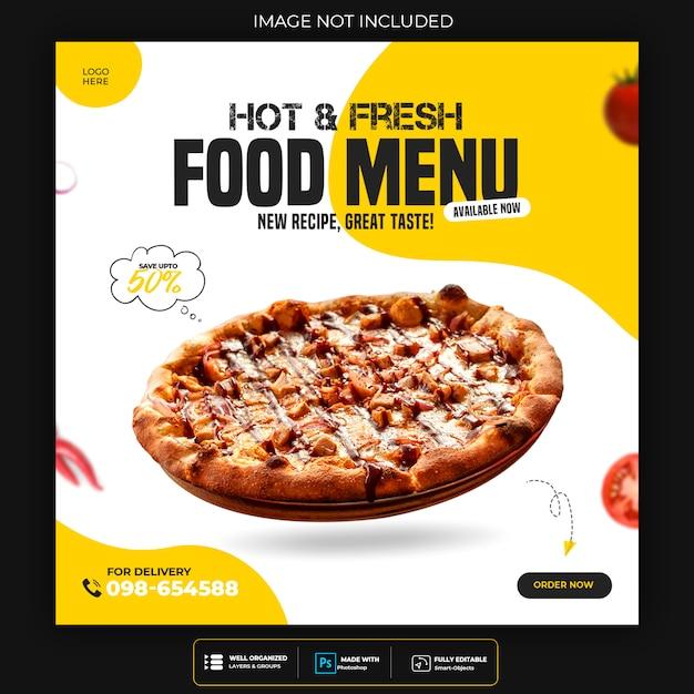 Szablon Zniżki Na Jedzenie Na Post W Mediach Społecznościowych Premium Psd