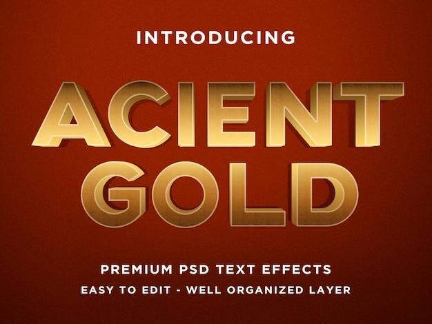Szablony acient gold 3d text effect Premium Psd