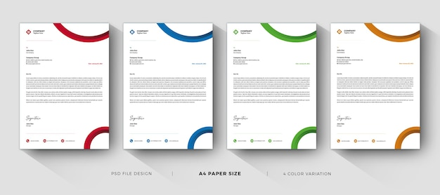 Szablony Firmowe Profesjonalny I Nowoczesny Design Z Różnymi Kolorami Premium Psd
