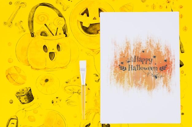 Szczęśliwy Halloween Prześcieradła Remis I Tła Pojęcie Darmowe Psd