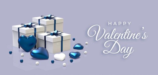Szczęśliwych Walentynek Premium Psd