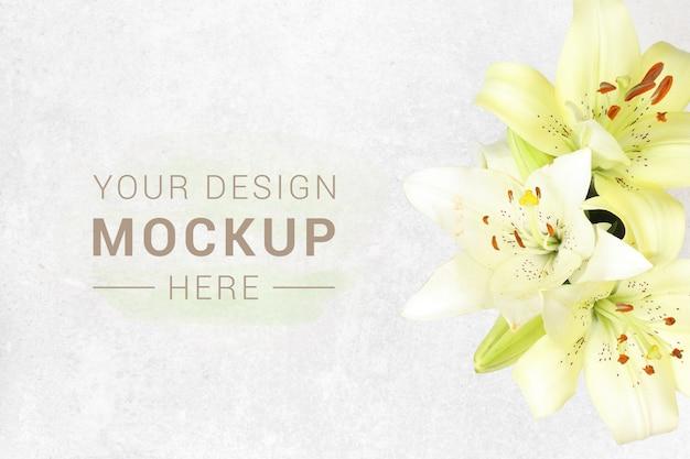 Sztandar Z Kwiatami Na Granitowym Tle Premium Psd