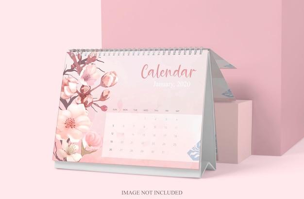 Tabela Kalendarza Makieta Projekt Na Białym Tle Premium Psd