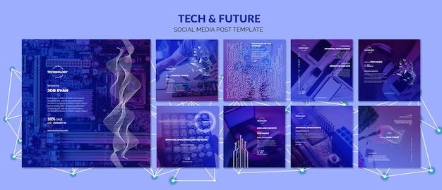 Technika I Koncepcja Przyszłości Media Społecznościowe Darmowe Psd
