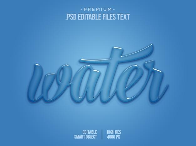 Tekst Edytowalny Efekt Wody, Efekt Tekstowy 3d, Efekt Niebieskiej Kropli Wody Aqua Text Text Premium Psd