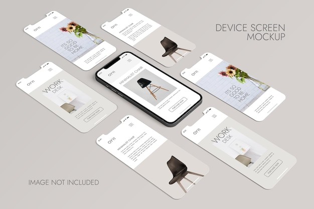 Telefon I Ekran - Makieta Prezentacji Aplikacji Ui Ux Darmowe Psd