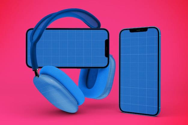 Telefony Główne I Makieta Smartfona Premium Psd