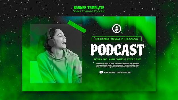 Temat Transparentu Podcastu O Tematyce Kosmicznej Darmowe Psd