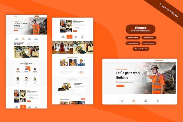 Themex - Szablon Sieci Konstrukcyjnej Premium Psd