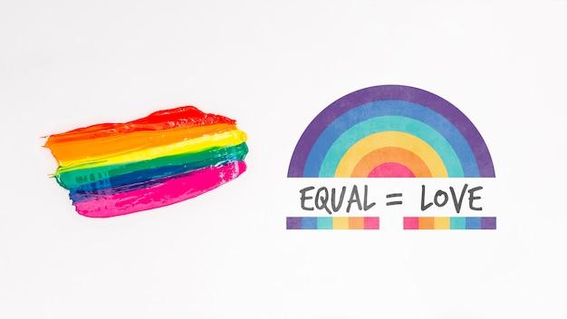 Tło dumy gejowskiej z elementami Darmowe Psd