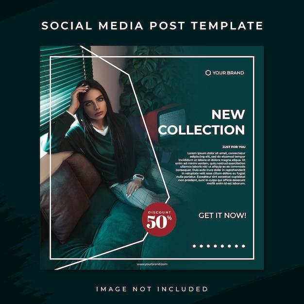 Tosca Moda Sprzedaż Szablon Mediów Społecznościowych Post Premium Psd