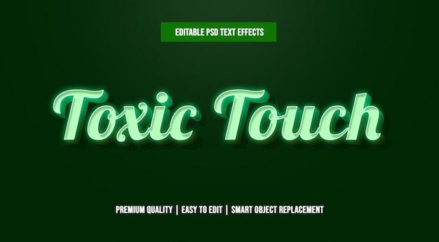 Toxic touch edytowalne szablony efektów tekstowych psd Premium Psd