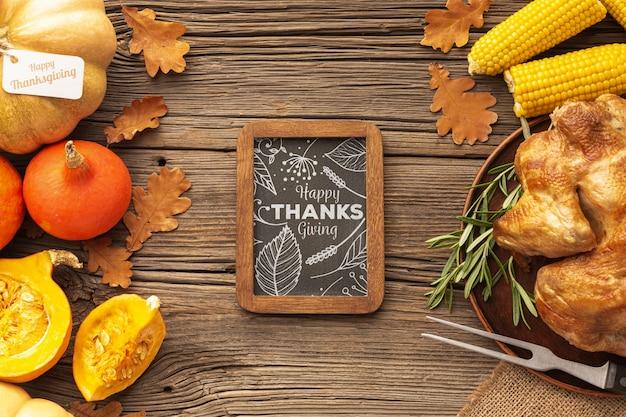 Tradycja święto dziękczynienia żywności do świętowania Darmowe Psd