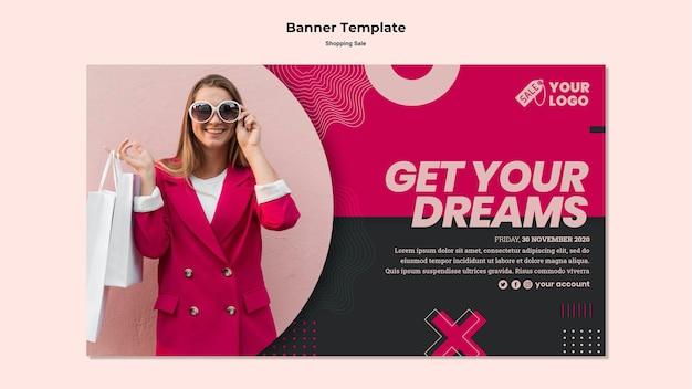 Transparent Sprzedaży Ze Zdjęciem Kobiety Na Zakupy Premium Psd