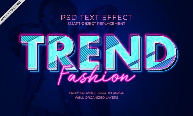 Trend Efekt Tekstu Mody Premium Psd