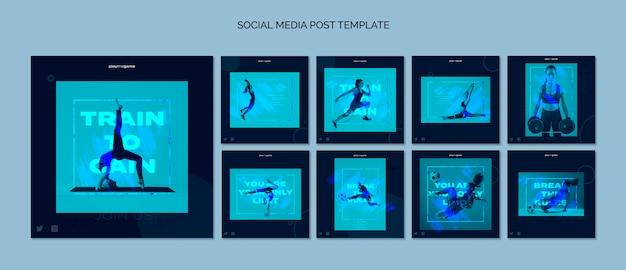 Trenuj, By Zdobyć Kolekcję Szablonów Postów Na Instagramie Darmowe Psd