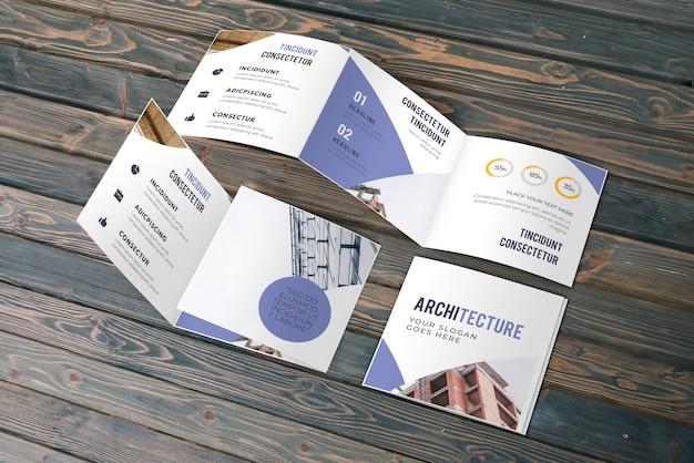 Trifold biznes broszura makieta Darmowe Psd