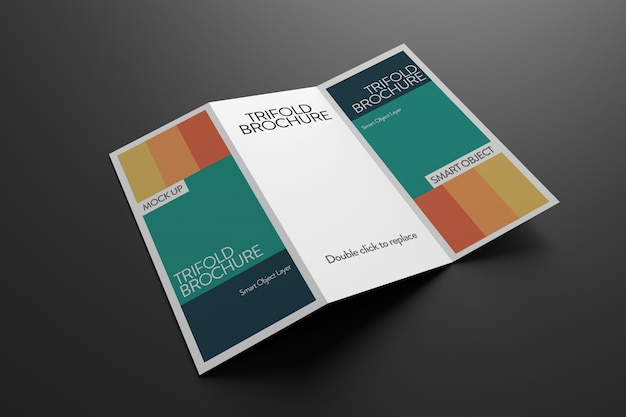 Trifold Broszura Makieta Premium Psd