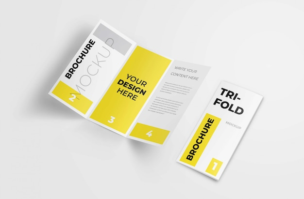 Trójfoldowa broszura a4 Premium Psd