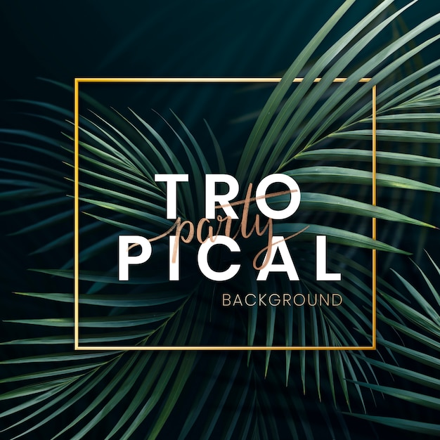 Tropical party poster Premium Psd