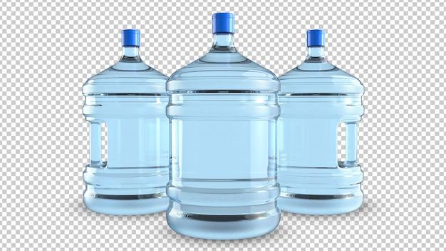 Trzy Duże Plastikowe Butelki Do Chłodzenia Wody Premium Psd