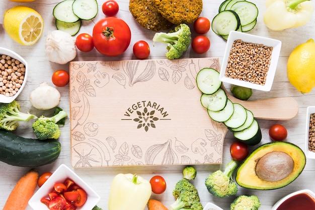 Układ Płaski Ze Zdrową żywnością Darmowe Psd
