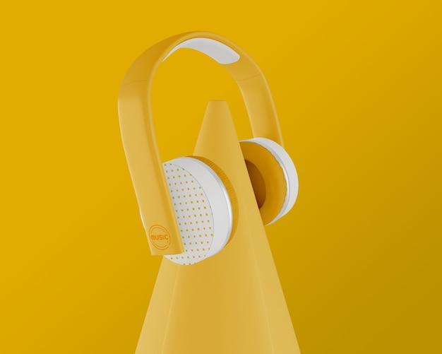 Układ Z żółtą Słuchawką I Tłem Darmowe Psd