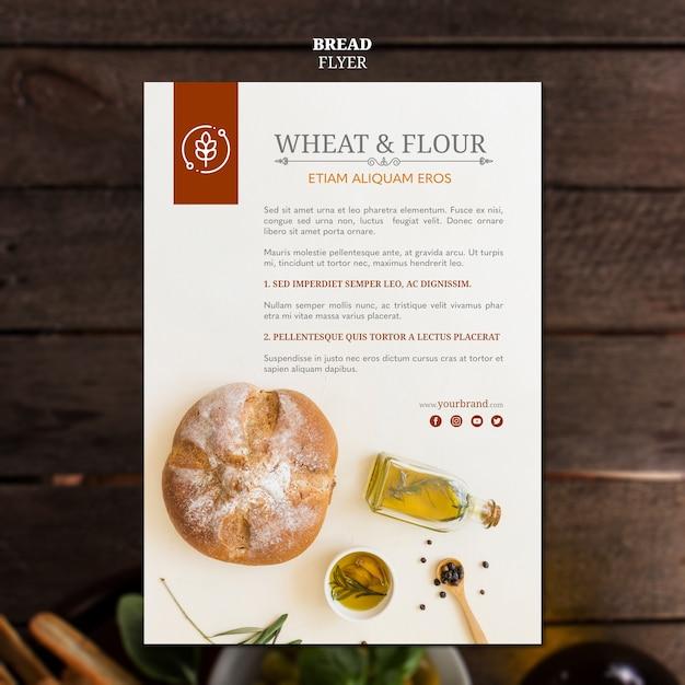 Ulotka Chleb Pszenicy I Mąki Darmowe Psd