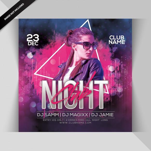 Ulotka city night party Premium Psd