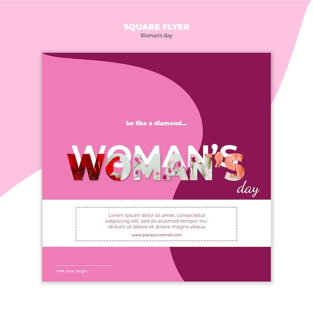Ulotka Kwadratowa Dzień Kobiety Darmowe Psd