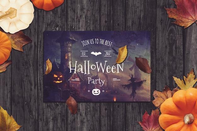 Ulotka Mockup Z Halloween Projektu Premium Psd