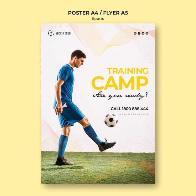 Ulotka Obozu Szkoleniowego Klubu Piłkarskiego Darmowe Psd