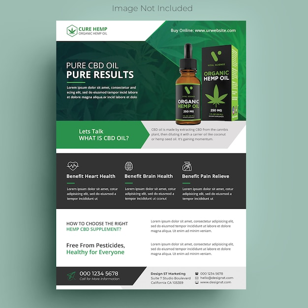 Ulotka Produktu Z Konopi Premium Psd