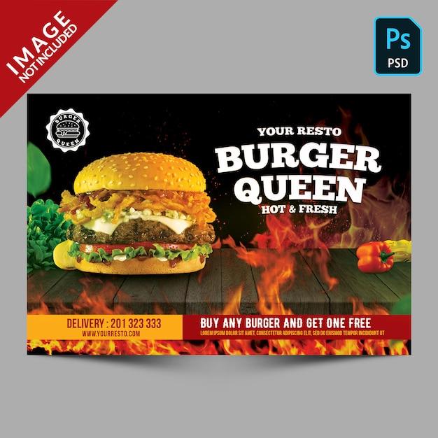 Ulotka promocyjna burger Premium Psd