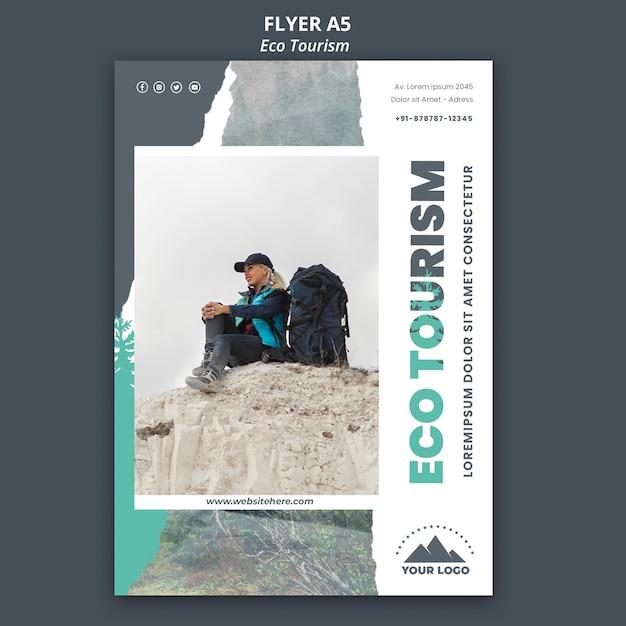 Ulotka Szablon Turystyki Ekologicznej Darmowe Psd