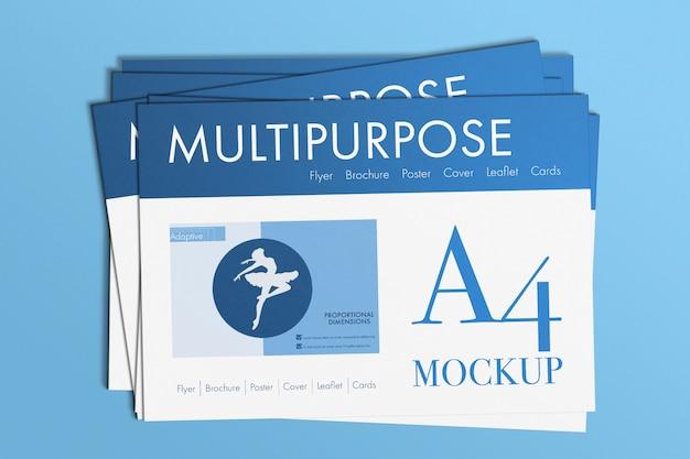 Uniwersalna Makieta Papierów A4 Darmowe Psd