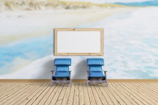 Usiądź I Zrelaksuj Się I Makieta Ramki Premium Psd