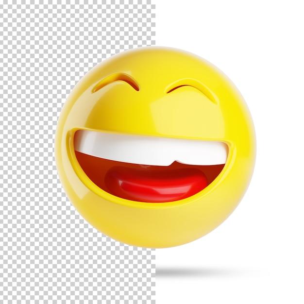 Uśmiechnięta Twarz Emoji 3d Premium Psd