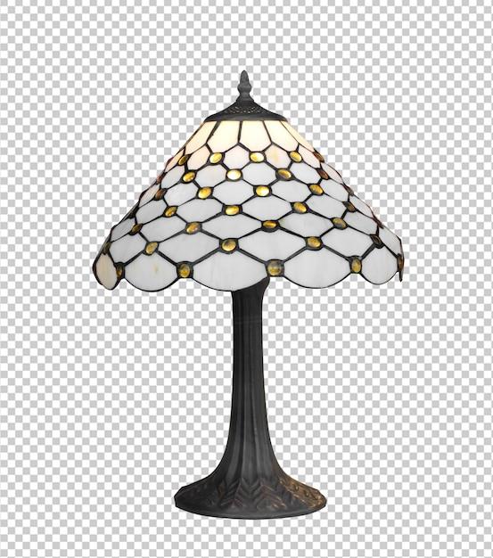 Vintage Pojedyncze Lampy Na Białym Tle Premium Psd
