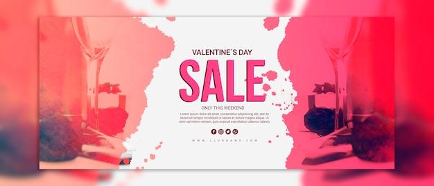 Walentynki banery sprzedaż makieta Darmowe Psd