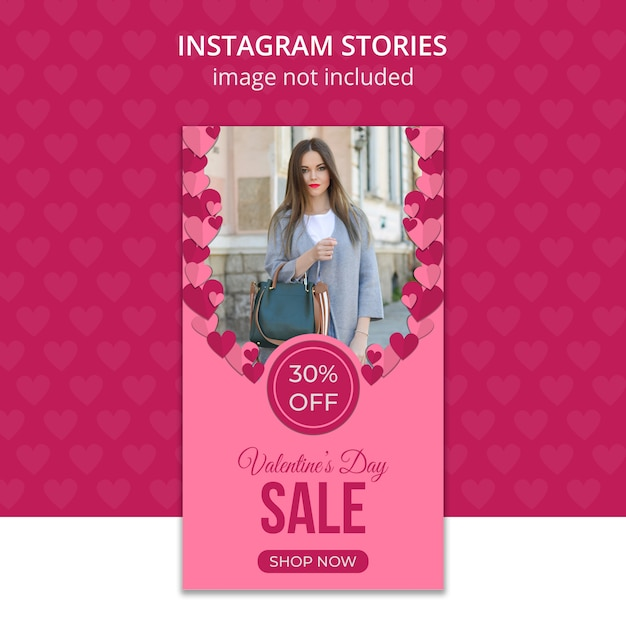 Walentynki Na Instagramie Premium Psd