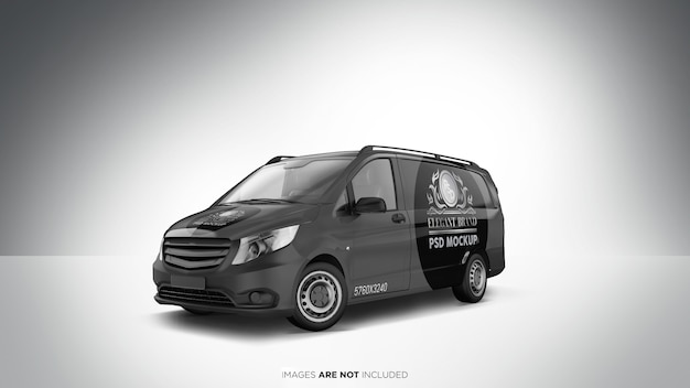 Widok Perspektywiczny Makiety Pojazdu Van Psd Premium Psd