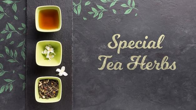 Widok Z Góry Koncepcja Specjalna Herbata Zioła Darmowe Psd